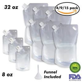 10 pack of Cruise Ship Flask Kit