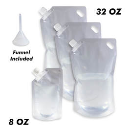 5 pack of Cruise Ship Flask Kit